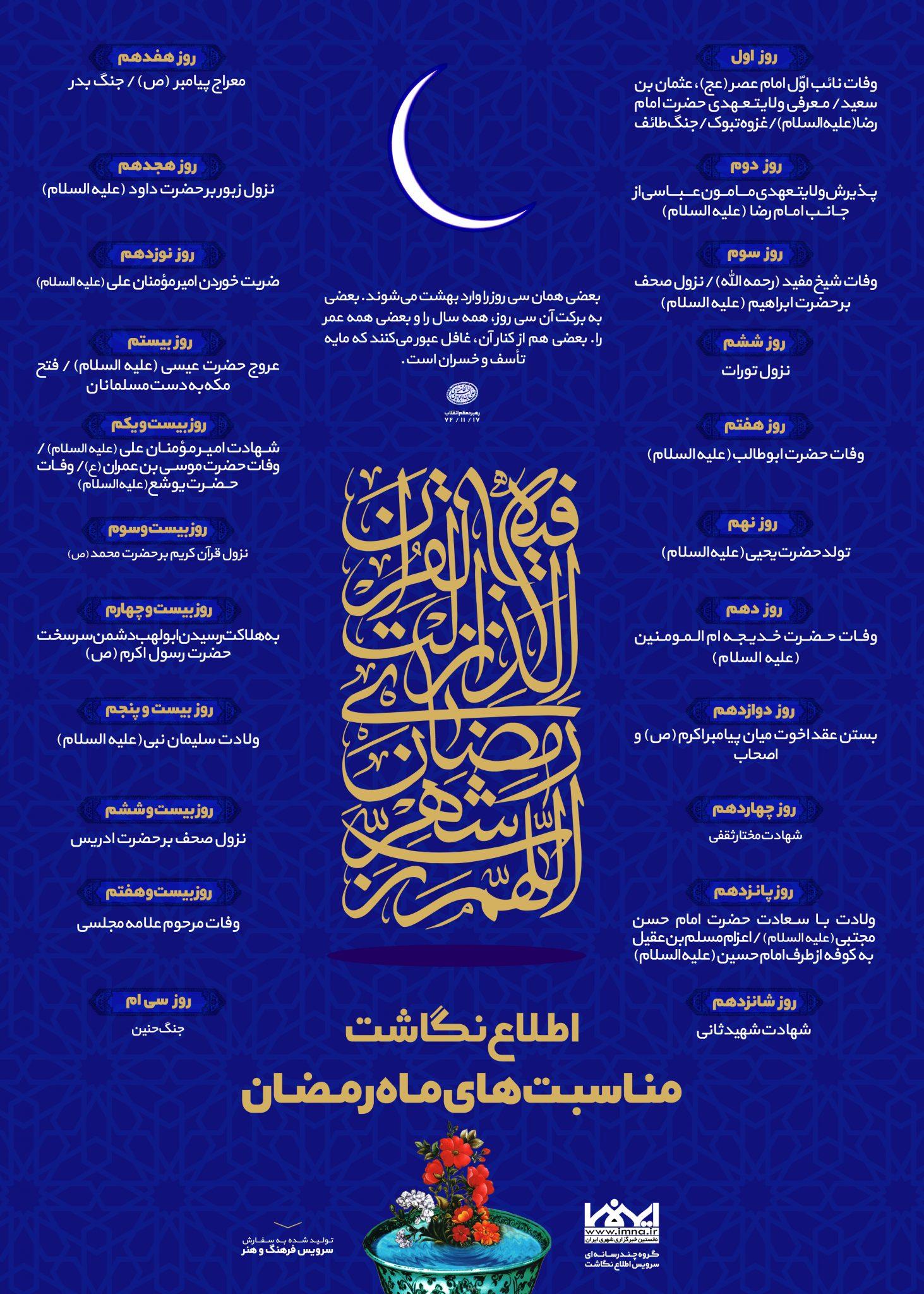 اینفوگرافیک مناسبت های ماه رمضان