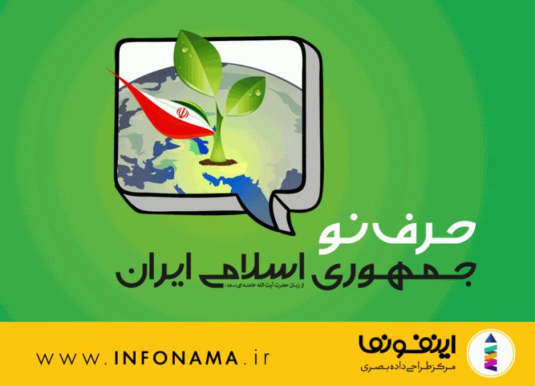 پیش نمایش اینفوگرافیک حرف نو جمهوری اسلامی ایران